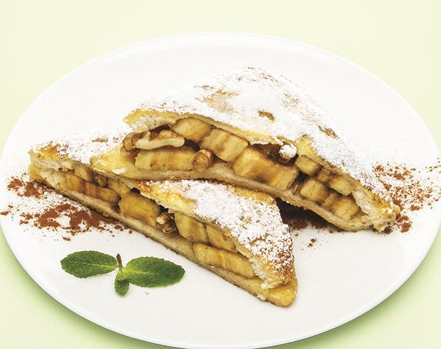 Torrijas rellenas de plátano