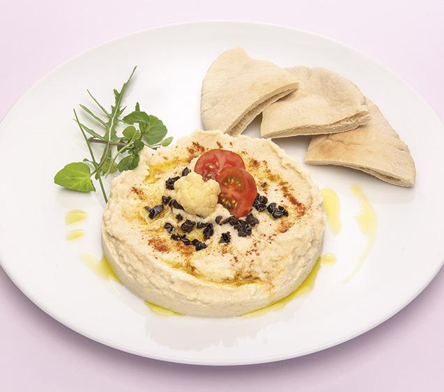 Hummus de coliflor mediterráneo