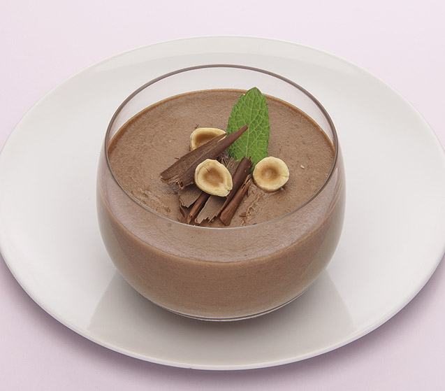 Mousse de chocolate con avellanas