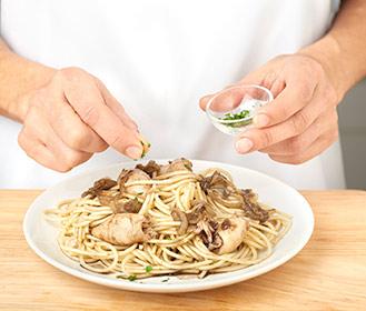 receta paso a paso espaguetis con chipirones