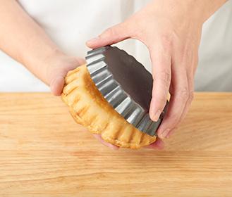 receta paso a paso tartaletas de hojaldre de calabacin y gambas