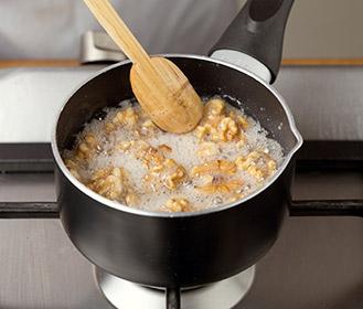 receta paso a paso flan de queso con nueces caramelizadas