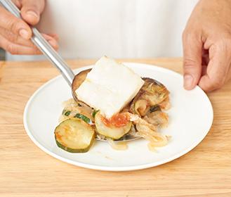 receta paso a paso bacalao al horno con verduritas