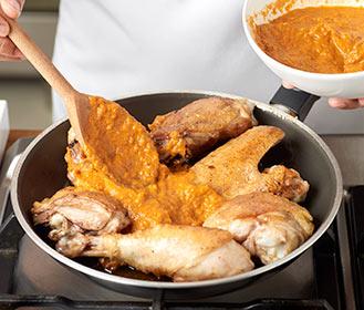 receta paso a paso pollo campero con patatas fritas