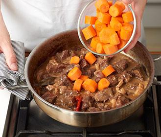 receta paso a paso ternera con zanahorias agridulces