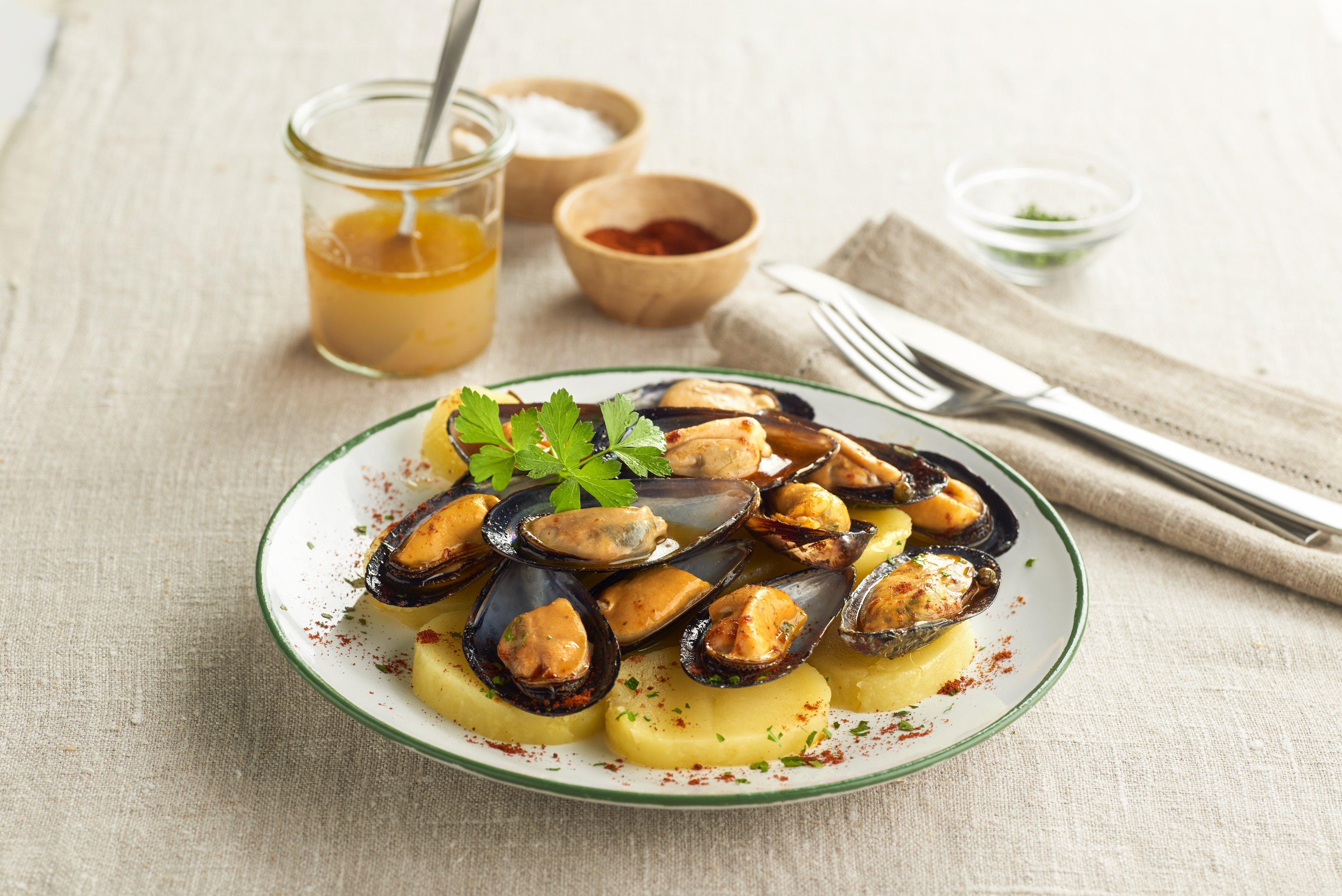 Mejillones en escabeche de vinagre de sidra