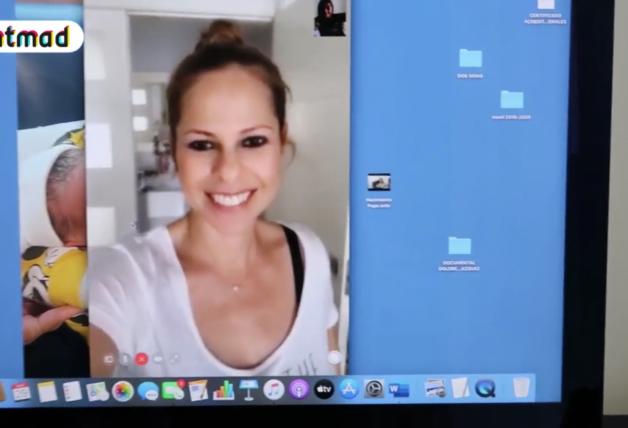 Toñi Moreno en videoconferencia con Pastora Soler