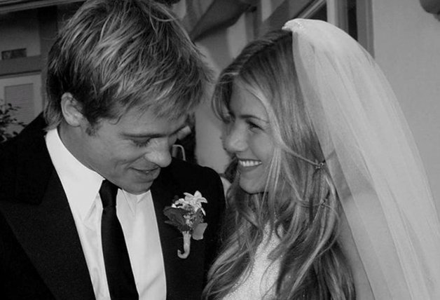 Brad Pitt y Jennifer Aniston (Boda)